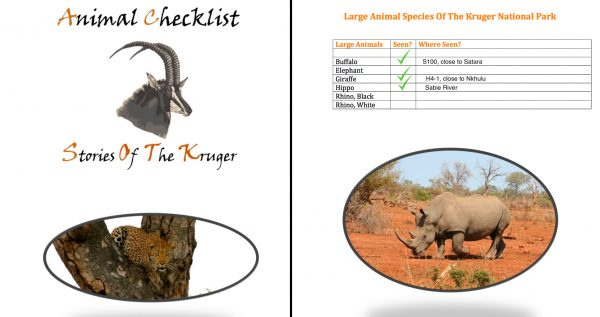 Kruger National Park Mammal Checklist