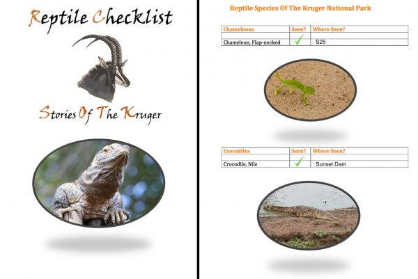 Kruger National Park Reptile Checklist