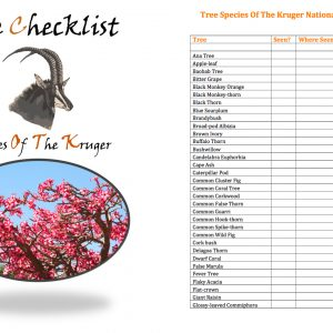 Kruger National Park Tree Checklist