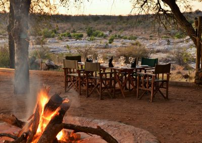 Mjejane River Lodge Bush Dining