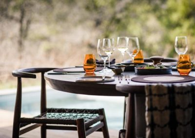 Singita Sweni Lodge Dining
