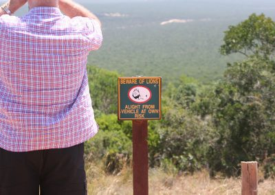 Beware Of Lions Sign Addo Elephant National Park